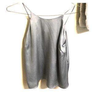 Grey silky top